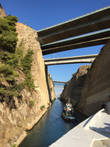 Star Legend transits the Corinth Canal connecting the Gulf of Corinth with the Aegean Sea.